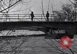 Image of Soldiers standing guard atop a bridge United States USA, 1943, second 38 stock footage video 65675031862