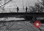 Image of Soldiers standing guard atop a bridge United States USA, 1943, second 39 stock footage video 65675031862