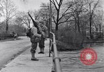 Image of Soldiers standing guard atop a bridge United States USA, 1943, second 49 stock footage video 65675031862