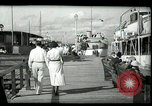 Image of tourists at restaurants West Palm Beach Florida USA, 1936, second 15 stock footage video 65675031877