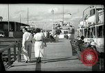 Image of tourists at restaurants West Palm Beach Florida USA, 1936, second 16 stock footage video 65675031877