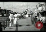Image of tourists at restaurants West Palm Beach Florida USA, 1936, second 17 stock footage video 65675031877