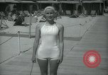 Image of 1930s tourists in swim suits West Palm Beach Florida USA, 1936, second 45 stock footage video 65675031920