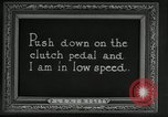 Image of instructions on how to drive Ford Model T car United States USA, 1922, second 58 stock footage video 65675031974