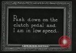 Image of instructions on how to drive Ford Model T car United States USA, 1922, second 60 stock footage video 65675031974