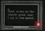 Image of instructions on how to drive Ford Model T car United States USA, 1922, second 61 stock footage video 65675031974