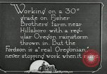 Image of Fordson model F tractor Oregon United States USA, 1920, second 43 stock footage video 65675031983