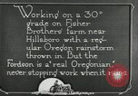 Image of Fordson model F tractor Oregon United States USA, 1920, second 49 stock footage video 65675031983
