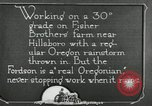 Image of Fordson model F tractor Oregon United States USA, 1920, second 52 stock footage video 65675031983