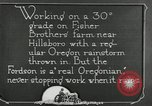Image of Fordson model F tractor Oregon United States USA, 1920, second 54 stock footage video 65675031983