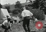 Image of group camping Maryland United States USA, 1921, second 58 stock footage video 65675031999