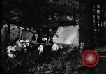 Image of group camping Maryland United States USA, 1921, second 20 stock footage video 65675032000