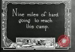 Image of group camping Maryland United States USA, 1921, second 4 stock footage video 65675032001