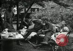 Image of Warren G Harding camping with Ford, Firestone, and Edison Maryland United States USA, 1921, second 22 stock footage video 65675032004