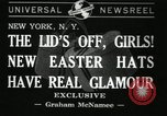 Image of easter hats New York United States USA, 1941, second 1 stock footage video 65675032024