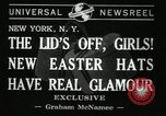 Image of easter hats New York United States USA, 1941, second 2 stock footage video 65675032024