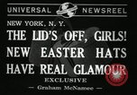 Image of easter hats New York United States USA, 1941, second 5 stock footage video 65675032024