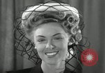 Image of easter hats New York United States USA, 1941, second 21 stock footage video 65675032024