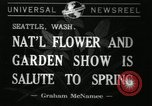 Image of Flower and garden show Seattle Washington USA, 1941, second 1 stock footage video 65675032026