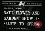 Image of Flower and garden show Seattle Washington USA, 1941, second 3 stock footage video 65675032026