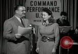 Image of command radio performance Hollywood Los Angeles California USA, 1943, second 2 stock footage video 65675032039