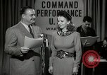 Image of command radio performance Hollywood Los Angeles California USA, 1943, second 3 stock footage video 65675032039