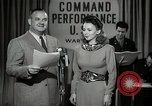 Image of command radio performance Hollywood Los Angeles California USA, 1943, second 5 stock footage video 65675032039