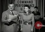 Image of command radio performance Hollywood Los Angeles California USA, 1943, second 6 stock footage video 65675032039
