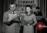 Image of command radio performance Hollywood Los Angeles California USA, 1943, second 12 stock footage video 65675032039