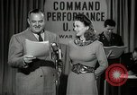 Image of command radio performance Hollywood Los Angeles California USA, 1943, second 13 stock footage video 65675032039
