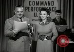 Image of command radio performance Hollywood Los Angeles California USA, 1943, second 15 stock footage video 65675032039