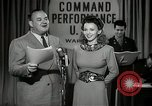 Image of command radio performance Hollywood Los Angeles California USA, 1943, second 16 stock footage video 65675032039