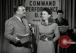 Image of command radio performance Hollywood Los Angeles California USA, 1943, second 17 stock footage video 65675032039
