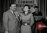 Image of command radio performance Hollywood Los Angeles California USA, 1943, second 21 stock footage video 65675032039