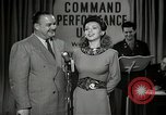 Image of command radio performance Hollywood Los Angeles California USA, 1943, second 22 stock footage video 65675032039