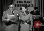 Image of command radio performance Hollywood Los Angeles California USA, 1943, second 24 stock footage video 65675032039
