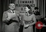 Image of command radio performance Hollywood Los Angeles California USA, 1943, second 25 stock footage video 65675032039