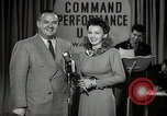 Image of command radio performance Hollywood Los Angeles California USA, 1943, second 30 stock footage video 65675032039