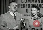 Image of command radio performance Hollywood Los Angeles California USA, 1943, second 31 stock footage video 65675032039