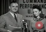 Image of command radio performance Hollywood Los Angeles California USA, 1943, second 32 stock footage video 65675032039