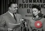 Image of command radio performance Hollywood Los Angeles California USA, 1943, second 34 stock footage video 65675032039