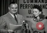 Image of command radio performance Hollywood Los Angeles California USA, 1943, second 35 stock footage video 65675032039