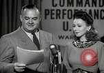 Image of command radio performance Hollywood Los Angeles California USA, 1943, second 37 stock footage video 65675032039