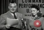 Image of command radio performance Hollywood Los Angeles California USA, 1943, second 38 stock footage video 65675032039