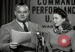 Image of command radio performance Hollywood Los Angeles California USA, 1943, second 39 stock footage video 65675032039