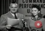 Image of command radio performance Hollywood Los Angeles California USA, 1943, second 40 stock footage video 65675032039