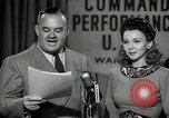 Image of command radio performance Hollywood Los Angeles California USA, 1943, second 41 stock footage video 65675032039