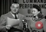 Image of command radio performance Hollywood Los Angeles California USA, 1943, second 42 stock footage video 65675032039
