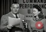 Image of command radio performance Hollywood Los Angeles California USA, 1943, second 43 stock footage video 65675032039