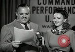 Image of command radio performance Hollywood Los Angeles California USA, 1943, second 44 stock footage video 65675032039